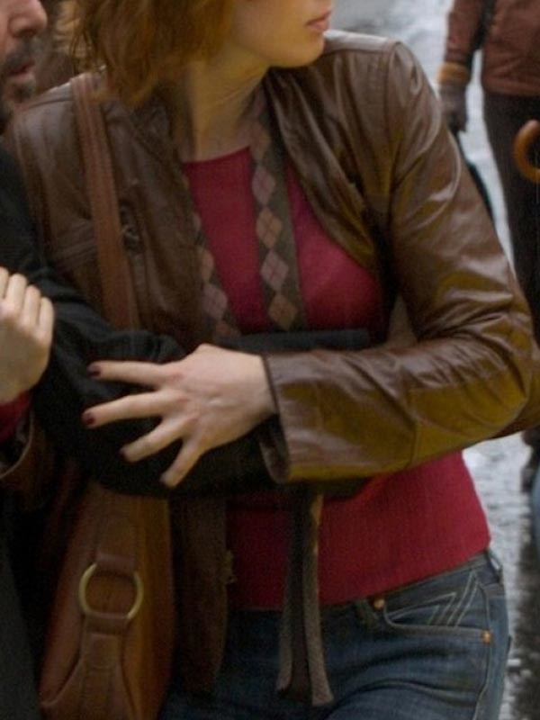 yojackets Alicia Witt 88 Minutes Brown Leather Jacket