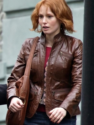 Alicia Witt 88 Minutes Brown Jacket
