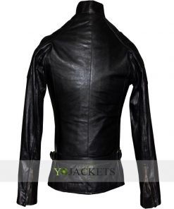 Angelina Jolie Wanted Fox Black Leather Jacket