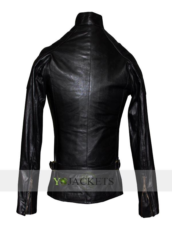 Angelina Jolie Wanted Fox Black Leather Jacket