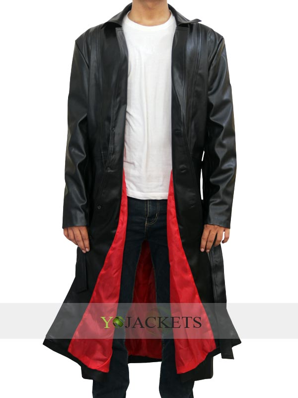 Black Leather Trench Coats