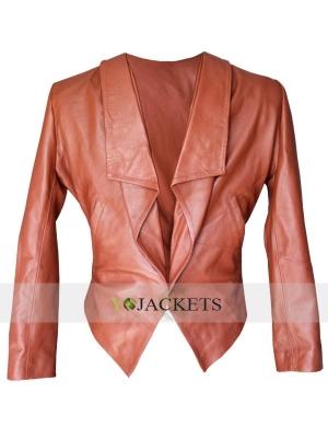 Caroline Channing 2 Broke Girls Leather Jacket