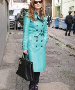 Dana Delany Leather Coat