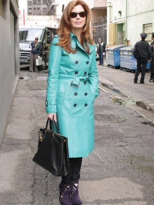 Dana Delany Leather Coat