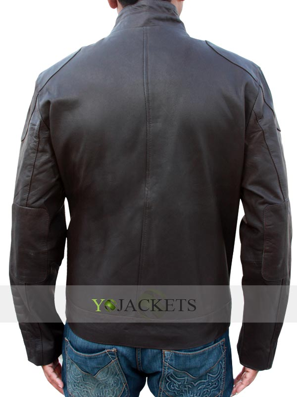 Distressed Leather Lockout Snow Jacket