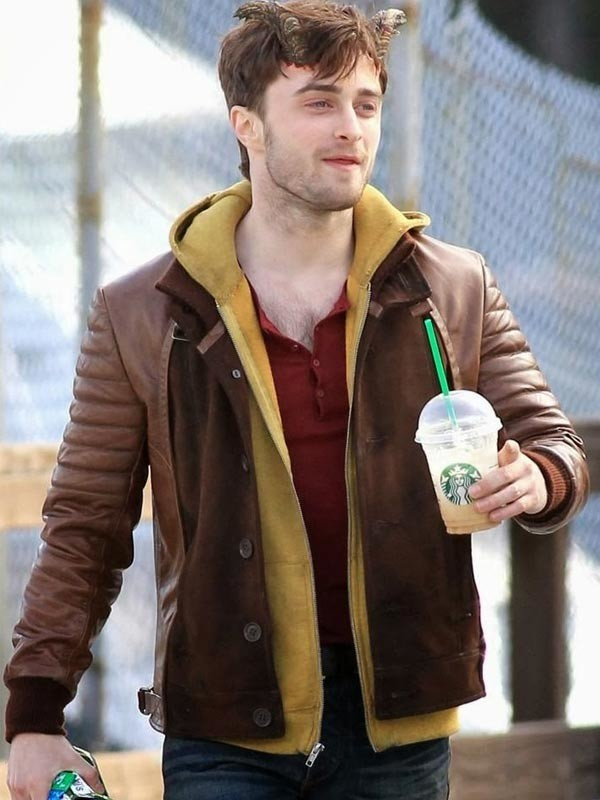yojackets Horns Daniel Radcliffe Leather Jacket