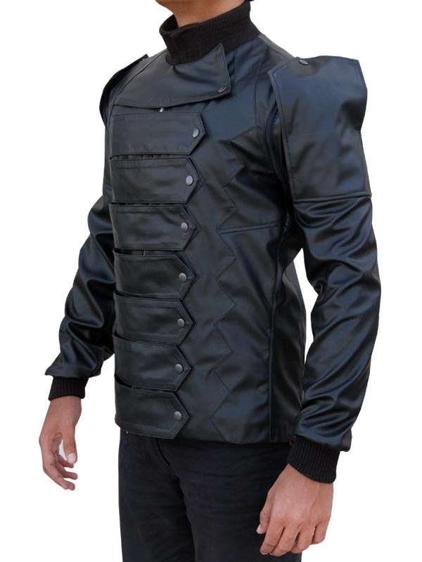 James Bucky Barnes The Winter Soldier Leather Vest