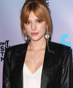 Pre Grammy Party Bella Thorne leather Jacket
