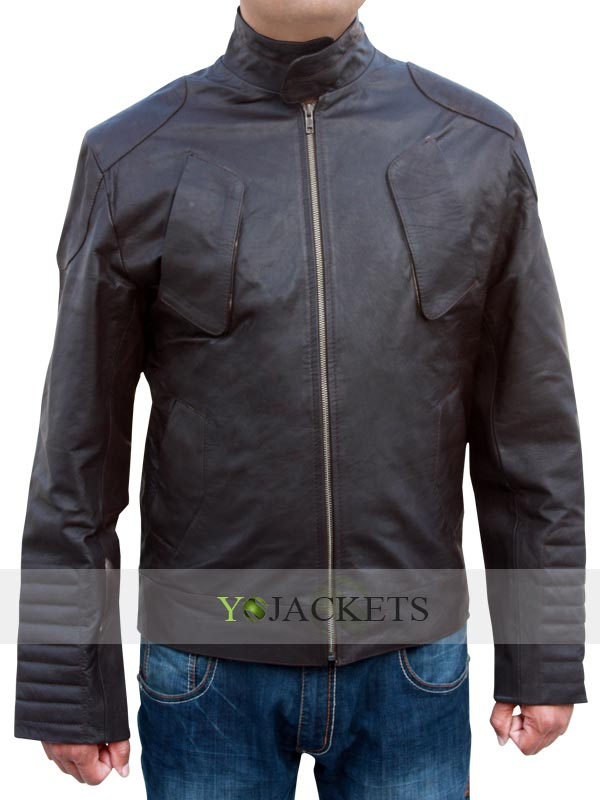 Snow Lockout Brown Distressed Leather Jacket