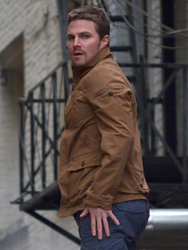 Stephen Amell Arrow Leather Jacket