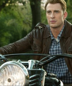 Steve Rogers Locomotive leather Jacket