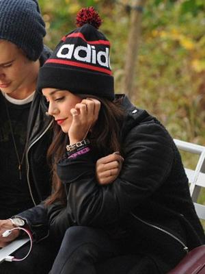 Vanessa Hudgens Black Leather Jacket