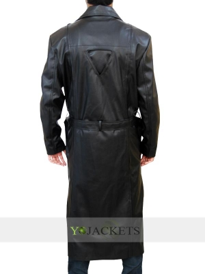 Wesley Snipes Trench Leather Coat