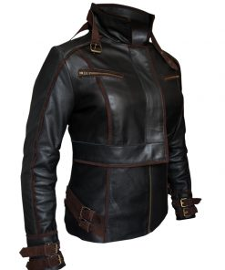 leather Total Recall Jessica Biel Jacket1