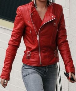 Cheryl Cole Red Santa Claus Jacket