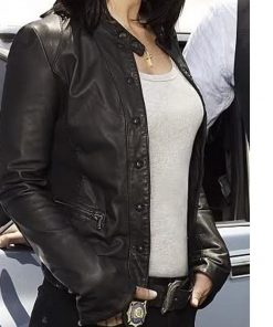 Robin Tunney The Mentalist Black Leather Jacket