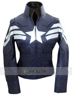 Steve Rogers Captain America Jacket for Female