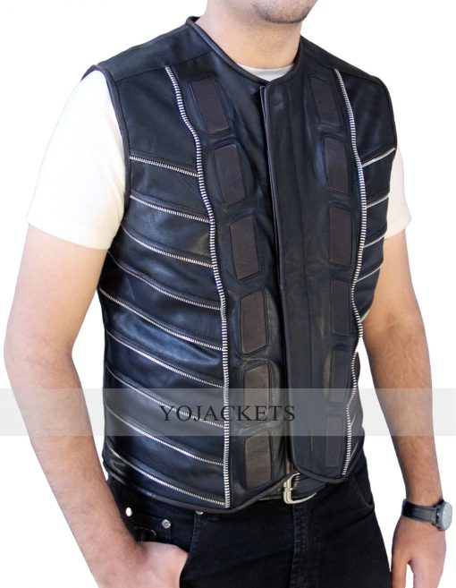 Anthony Lemke Dark Matter leather Vest