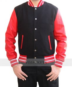 Letterman Red and Black Jacket