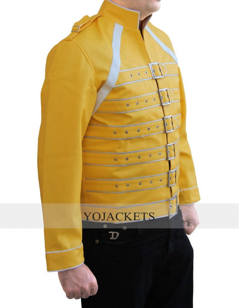 Yellow Freddie Mercury Jacket Celebrity Leather Jackets