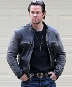 Mark Wahlberg Daddys Home Distressed Jacket