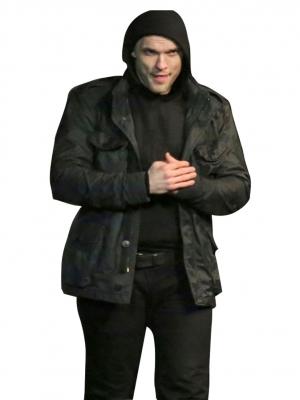 deadpool Ed Skriein leather jacket