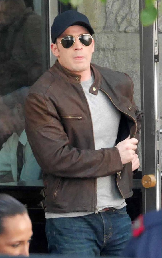 Steve Rogers Brown Jacket
