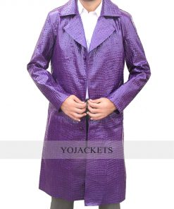 Suicide Squad Jared Leto Joker Crocodile Pattern Coat