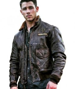 Jumanji 2 Nick Jonas Leather Jacket