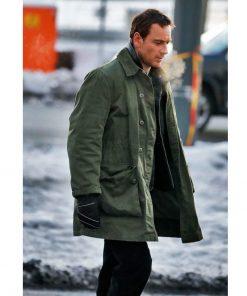 Michael Fassbender Green Coat