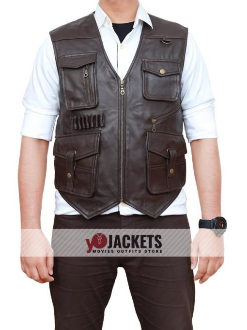 Chris Pratt Leather Vest Jurassic World Fallen Kingdom