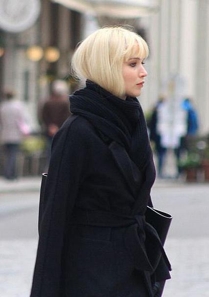 Red Sparrow Jennifer Lawrence Black Coat