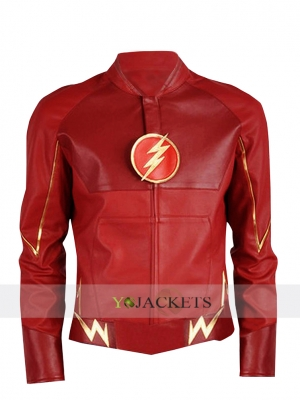 Barry Allen Flash Red Leather Jacket