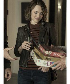 Rachel McAdams Biker Leather Jacket