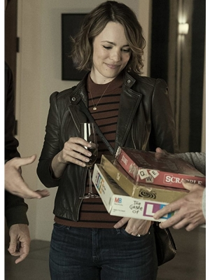 Rachel McAdams Biker Leather Jacket