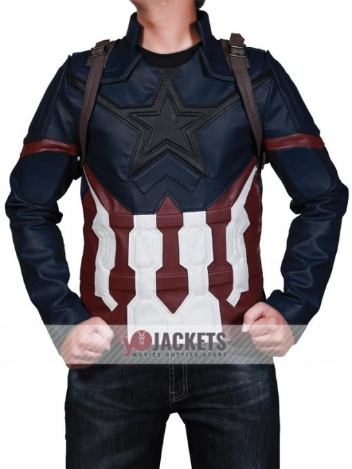 Avengers Infinity War Captain America Leather Jacket