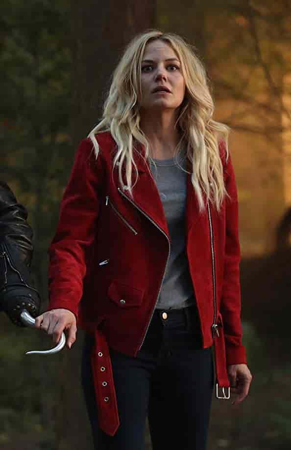 Jennifer Morrison Red Suede Leather J