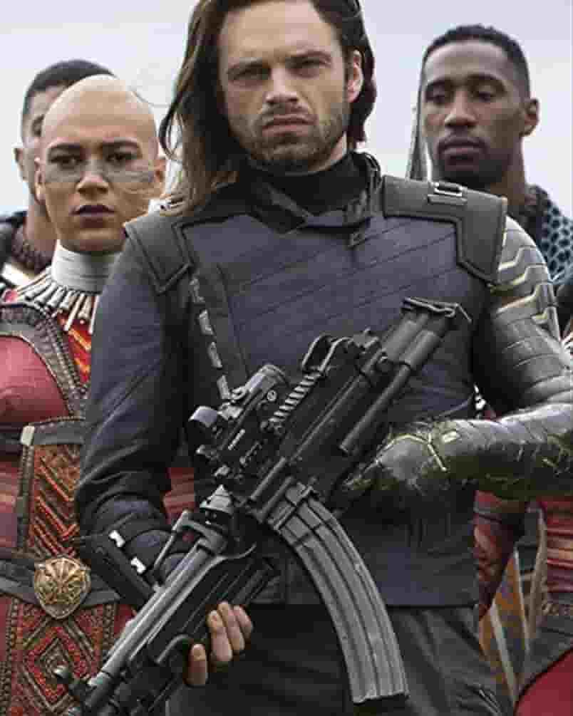 Avengers Infinity War Bucky Barnes White Wolf Jacket