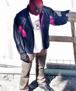 wields a gun ryan reynolds deadpool 2 jacket