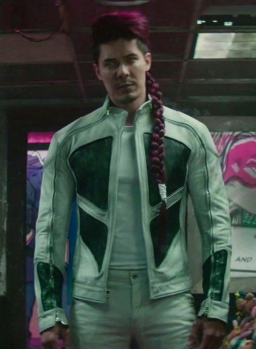 Lewis Tan Deadpool 2 Leather Jacket