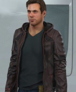 Video Game Gavin Reed Hooded Leather Jacket