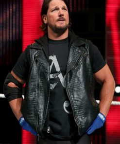 AJ Styles Black Leather Vest