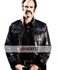 Simon Walking Dead bomber Leather Jacket