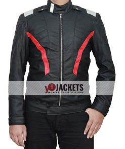 Soldier 76 Black Leather Jacket