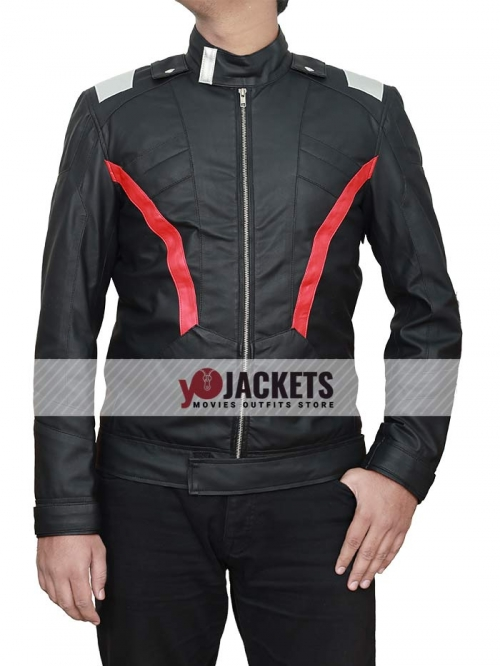 Soldier 76 Black Leather Jacket