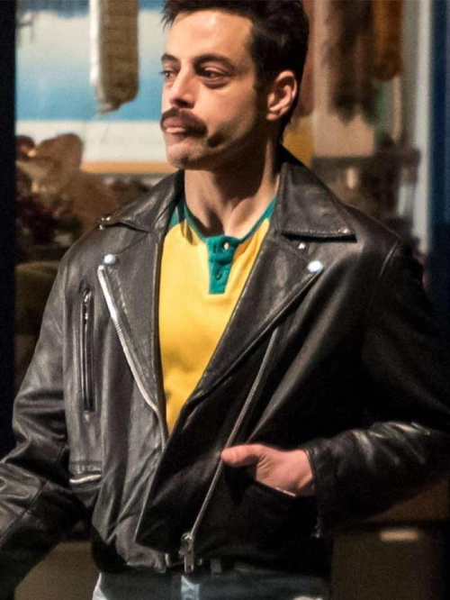 Rami Malek Freddie Mercury Leather Jacket
