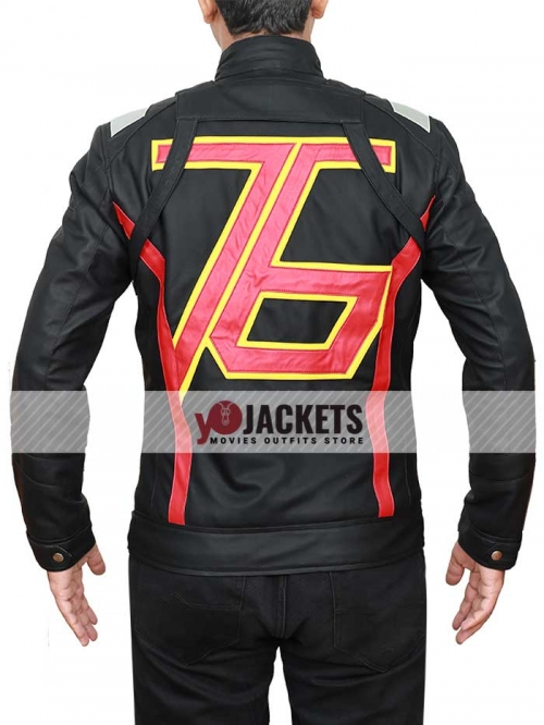 Overwatch 76 Soldier Black Leather Jacket