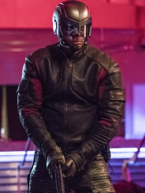 David Ramsey Arrow John Diggle leather Jacket