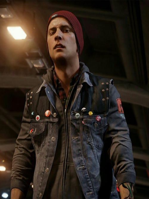 Infamous Second Son Delsin Rowe Denim Vest
