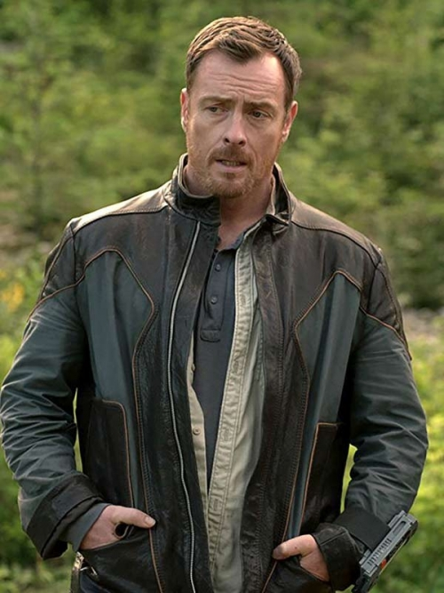 Toby Stephens Lost in Space Leather Jacket